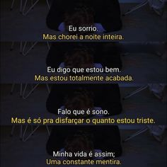😕 ... #solidão #solitario #sozinho #sadgirl #sadboys #sadboy  #sentimentos #sad #tristeza #triste #chorona #depressão Sad Texts, Memes Status, Sad Life, Im Sad, Fake Love, True Facts, Anti Social, It Hurts, Mindfulness