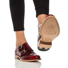 Colin Red Women S Monk Strap Oxford The Office Of Angela Scott