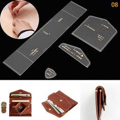 951dbff14ef DIY Acrylic Clear Leather Template Kit for Wallet Leathercraft Leather  Pattern Coin Purse Pattern, Purse