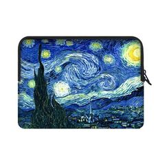 Vincent Van Gogh Starry Night 15.4 15.6 Inch Laptop Sleeve Case Bags for Lenovo, GW, Acer, Asus, Dell, Hp, Sony, Toshiba (Two Sides) CASECOCO