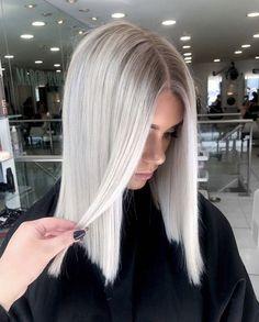 63 Cool Ash Blonde Hair Color Shades: Ash Blonde Hair Dye Kits to Try Cool Ash Blonde, Ash Blonde Hair Dye, Blonde Hair Colour Shades, Silver Blonde Hair, Blonde Hair Looks, Dyed Hair, Icy Blonde, Black Hair, Blonde Honey