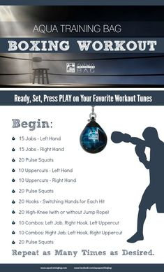 Boxing workout that combines strength training and cardio. Get a workout on your Aqua Punching Bags. Use this workout at home or add it to your Boxercise, Boxilates, Boxing for Fitness class. #Boxingworkout: