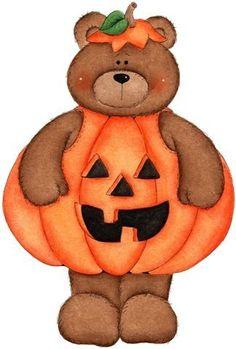HALLOWEEN, TEDDY BEAR CLIP ART