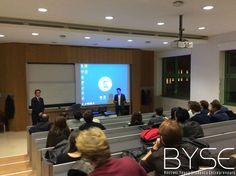 La presentazione del secondo pitch di byse (Bocconi Young Students Entrepreneurs) da parte di Andrea Seminara, presidente dell'associazione