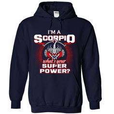 ((Top Tshirt Design) Scorpio superpower [TShirt 2016] Hoodies Tee Shirts