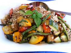 Israeli Couscous with Red Pepper Sauce   Recipe   Red Pepper Sauce ...