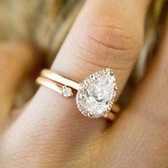 Fancy Halo Diamond Ring and Wren Diamond Ring