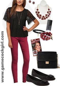 Gamecock Girl Gameday Look - Lovely in Lace #gamecocks