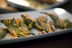 My food treat of the week. grilled artichokes & sping onions- smoked paprika aioli, chives...enjoyed at Va de Vi Bistro Wine Bar (May 2, 2012, Walnut Creek, CA)