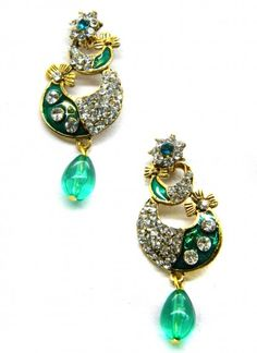 Majestic Teal Green Earring Set