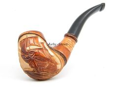 Wooden Tobacco Smoking pipe Flying Dutchman Ship Pear by ArtyStore