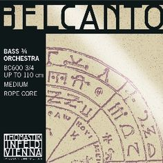 Belcanto Bass String Set of Four Tunes to G,D,A,E
