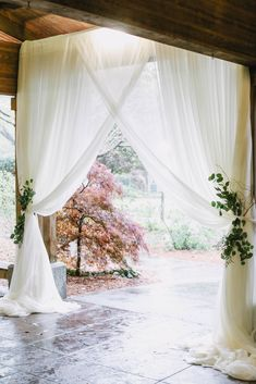 Beautiful draping at the Pavilion for Maddie and Bryce's April wedding. Draping by Onsite Productions, image by Jennifer Woodbery.