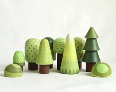 This woodland tree set includes 10 trees of different type. Please see the detailed photo. Wooden trees will be a great gift for creative games or interior decoration. It is handmade and safe for your child SIZE: - x // inches x inches - x // Wooden Tree, Wooden Diy, Toy Trees, Wood Turning Projects, Nature Table, Montessori Toys, Wooden Dolls, Learning Toys, Wood Toys