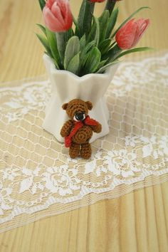 Knitted bear by BagsAccessories on Etsy