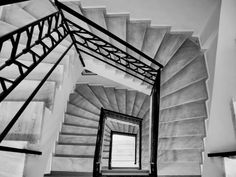 Nikos Hadjikyriakos-Ghika Gallery, Kriezotou Str., Athens Photo B, Athens, Greece, Stairs, Black And White, Architecture, Gallery, Home Decor, Stairways