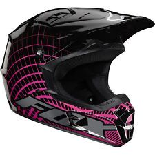 FOX Racing V1 Vortex MX Dirtbike Helmet Black/Pink Adult X-LRG 01199-285-XL NEW