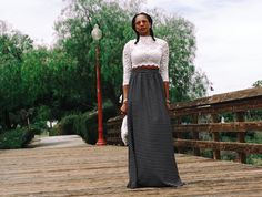 Happy Monday, ladies! There is no better way to start this week than with this Traci high-waisted long length maxi skirt with pockets by Dimiloc. There's two things I want…