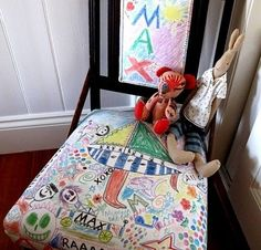 DIY of the day: kid's graffiti chair