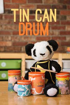 This is a fun, easy way for your kids to make their own drums, an instrument that has been around for thousands of years. See zyliethebear.com/blog for more fun crafts!