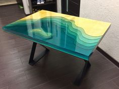 Amazing epoxy resin table types and how to make it step by step, stylish designs. Amazing epoxy re Epoxy Table Top, Wood Resin Table, Wooden Tables, Resin Furniture, Into The Woods, Resin Art, Decoration, Creative, Cool Stuff