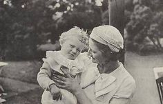 Queen Astrid with her son Albert (later King Albert II of Belgium)... this is must be shortly before her death