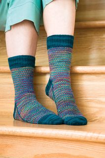 Spot Check Sock by Beth Parrott from Knitting Socks With Handpainted Yarn