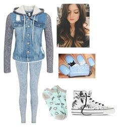 """""""Untitled #30"""" by ajdaremih ❤ liked on Polyvore featuring NLY Trend, Converse and Forever 21"""