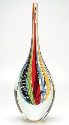 Hippie, vidro soprado com camadas superpostas. Design de Adriano Seguso para a Cá d'Oro.