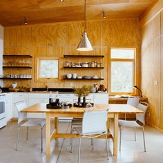 cabin kitchen/dining area