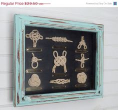 Hey, I found this really awesome Etsy listing at https://www.etsy.com/listing/208932625/on-sale-sailor-knot-shadow-box-nautical