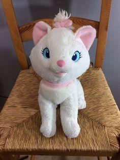 "Disney Plush Stuffed Animal Toy Aristocats Marie Cat Authentic Patch White 16"" #Disney"