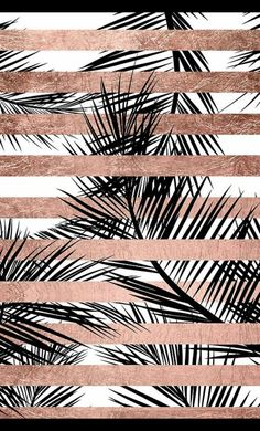 rose gold wallpaper backgrounds - Trendy tropical palm trees chic rose gold stripes' iPhone Case by GirlyTrend Iphone Wallpaper Rose Gold, Palm Tree Iphone Wallpaper, Free Iphone Wallpaper, Tumblr Wallpaper, Cool Wallpaper, Pattern Wallpaper, Pink Wallpaper, Iphone Wallpapers, Glitter Wallpaper