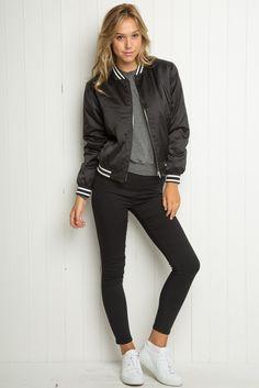 Brandy ♥ Melville | Liz Bomber Jacket - Jackets - Outerwear - Clothing