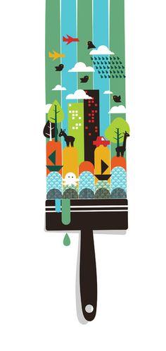 Paint your world by Budi Satria Kwan #Art #Print #illustration