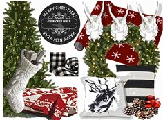 Add to existing basics for simple, classic Christmas decor