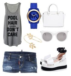 """""""Untitled #17"""" by eua-anagnwstou on Polyvore featuring Dsquared2, Michael Kors, MICHAEL Michael Kors, Alexander McQueen, Miss Selfridge and Karl Lagerfeld"""