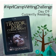 "#aprilcampwritingchallenge: I'm #currentlyreading ""The Traitor Baru Cormorant"" which is an amazig #highfantasy #novel by Seth Dickinson. It's about a gril born on a peaceful island which is conquered (not by battle but by coin trade and paper) and the whole culture of her people is destroyed by the Empire of the Masks. Although Baru attends their school although she seems to be one of them now she hasn't forgotten what the Masquerade did to her home. She learns to play their game of secrets…"