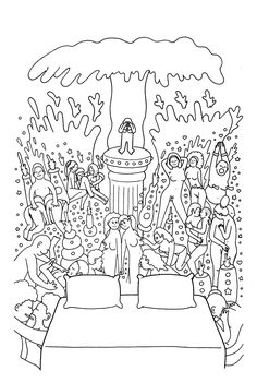 Peep Book Is A Collection Of Adult Illustrations To Color And Doodle On Get Out