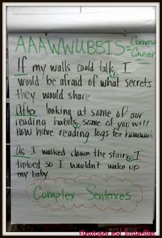 AAAWWUBBIS.... great for prepositional phrases and varied ...
