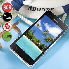 HUAWEI Honor U9508 Smart Phone with Hi3620 Quad-core 1.4GHz Android 4.0 2GB+8GB 3G Wi-Fi 8MP 4.5〞IPS Screen-Black + white