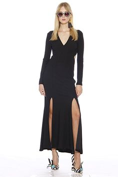 Christian Siriano New York Spring 2017 Runway Long Sleeve Backless Dress at  Amazon Women s Clothing store  53a313fa6