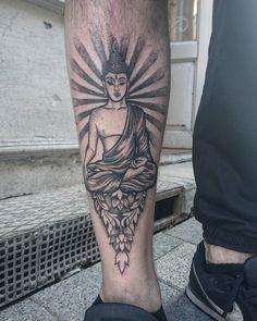 #tattoo #Buddha #buddhatattoo #dotworktattoo #blackworktattoo by ftwalexandra