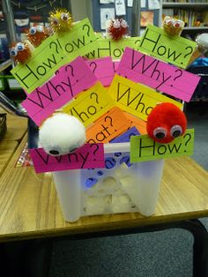Classroom DIY: DIY Question Word Sticks www. Writing Words, Kids Writing, Writing Resources, Writing Ideas, Writing Sentences, Writing Skills, Third Grade Writing, Teaching First Grade, Second Grade
