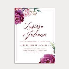 Convite de casamento Larissa e Juliano