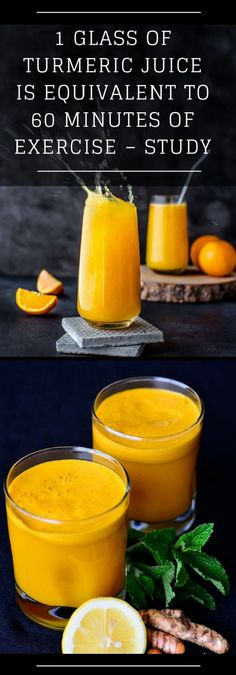1 Glass of Turmeric Juice is Equivalent to 60 Minutes of Exercise