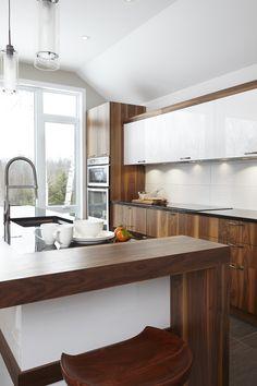 040 - Simard Cuisine et Salle de bains Cuisines Design, Modern Kitchen Design, Decoration, Kitchen Island, Cottage, Home Decor, Houses, Kitchens, Kitchen Modern