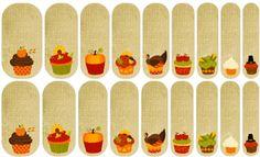 Fall Cupcakes Jamberry Nail Art Studio, cupcake, fall, Thanksgiving, dessert