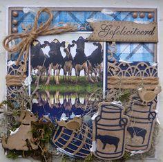 Corrine's Kaartjes Holland, Animal Cards, Man, Handmade Cards, Card Making, Scrapbooking, Animals, Inspiration, Design