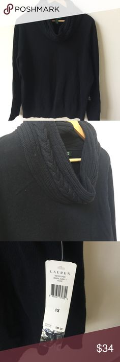Ralph Lauren | Cowl Neck Sweater | 1X Brand new with tags!!! Cowl neck sweater from Ralph Lauren size 1X. Lauren Ralph Lauren Sweaters Cowl & Turtlenecks